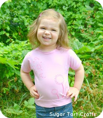 Pink dandelion shirt