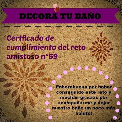 Certificado de cumplimiento reto nº 69