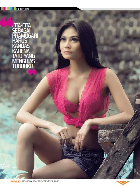 Andi Tita Navita Hot Pose for Male Magazine