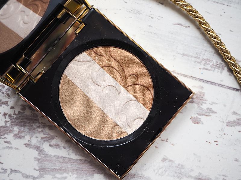 Elizabeth Arden Golden Opulence autumn winter makeup collection review highlighter close up