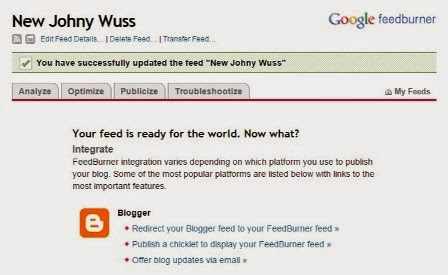 daftar feedburner new johny wuss