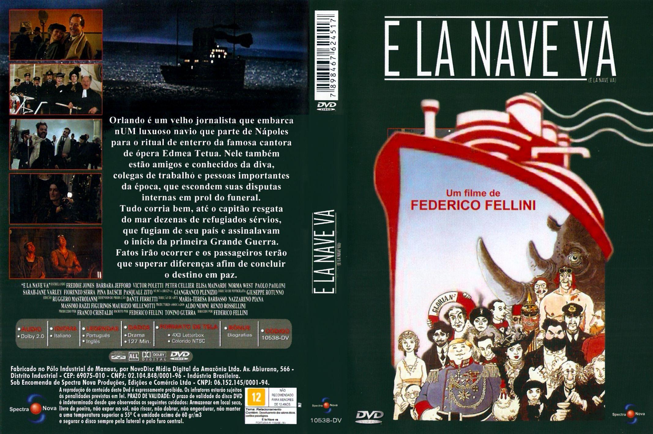 Capa DVD E La Nave Va
