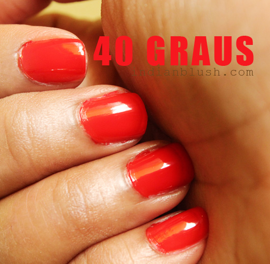 Maybelline Colorama Nailcolor 40 Graus shade swatches