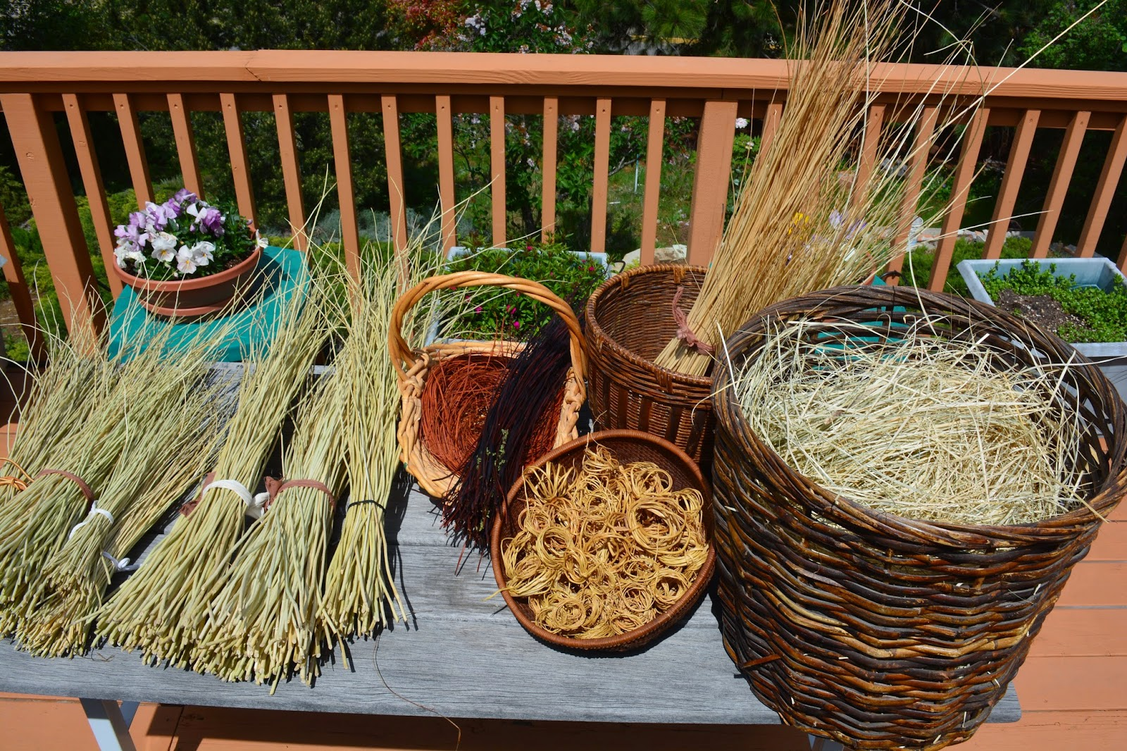 How Long Does It Take To Weave A Basket : Karuk basket materials