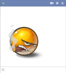 Emoticon With A Cigar