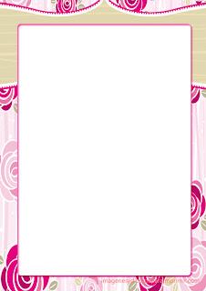 Romanticas rosas para imprimir  Folios con rosas para imprimir