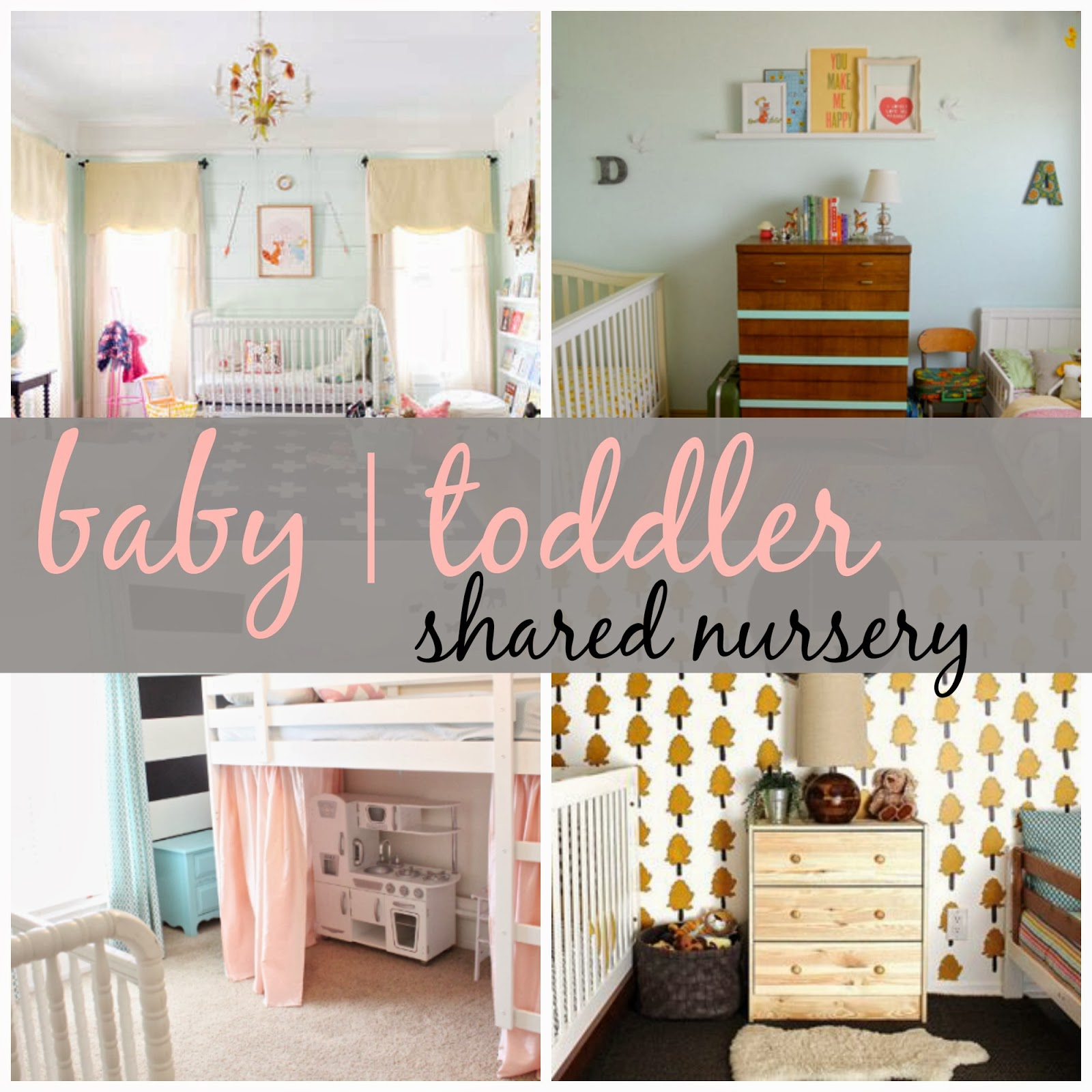 Joyful life shared nursery baby toddler rooms for Baby and toddler bedroom ideas