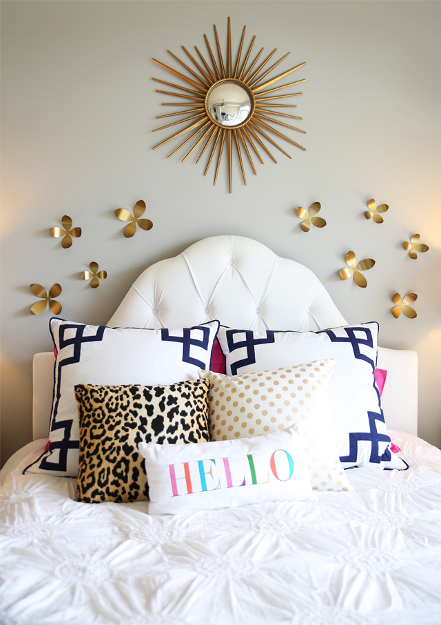 Love the fun pillows - especially the touch of leopard