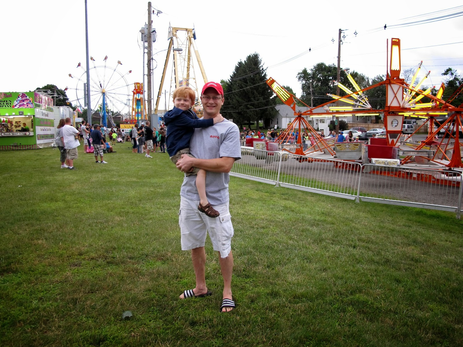 Porter & Daddy at the Carnival