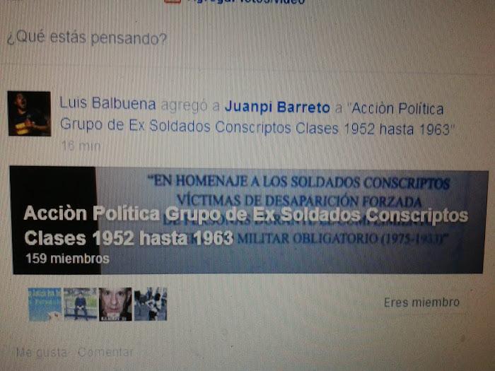 Grupo de Ex Soldados Conscriptos de Facebook.