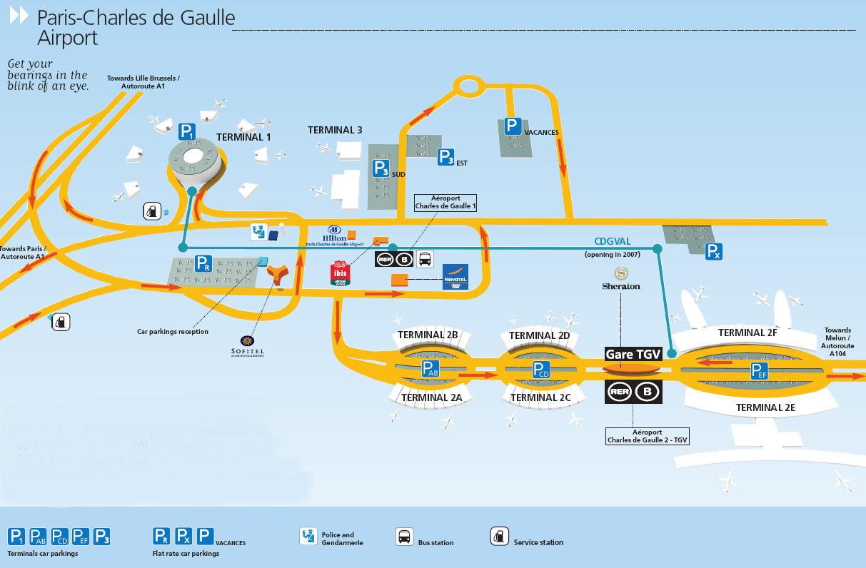Resultado de imagem para aeroporto de paris mapa