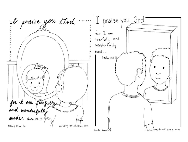 Kids winter coloring pages printable for Psalm 139 coloring page
