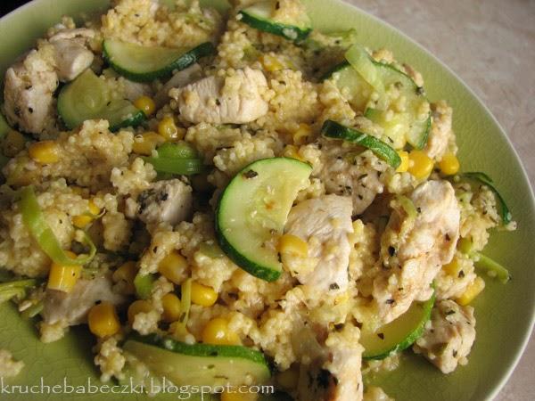 Zdrowa jaglanka z kurczakiem i warzywami :)