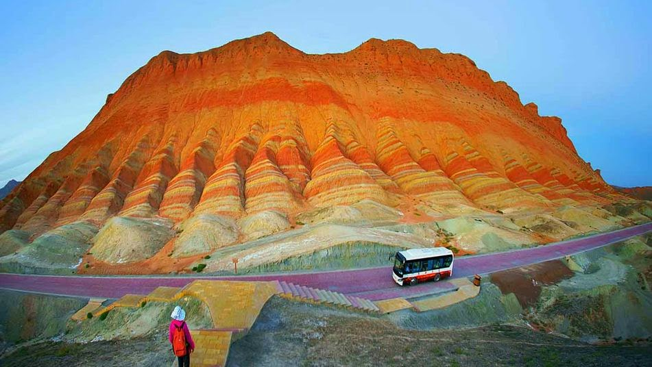 Parque geológico de Zhangye Danxia, China