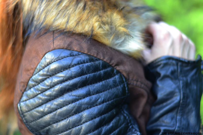 proud-fashion leather fur winter jacket