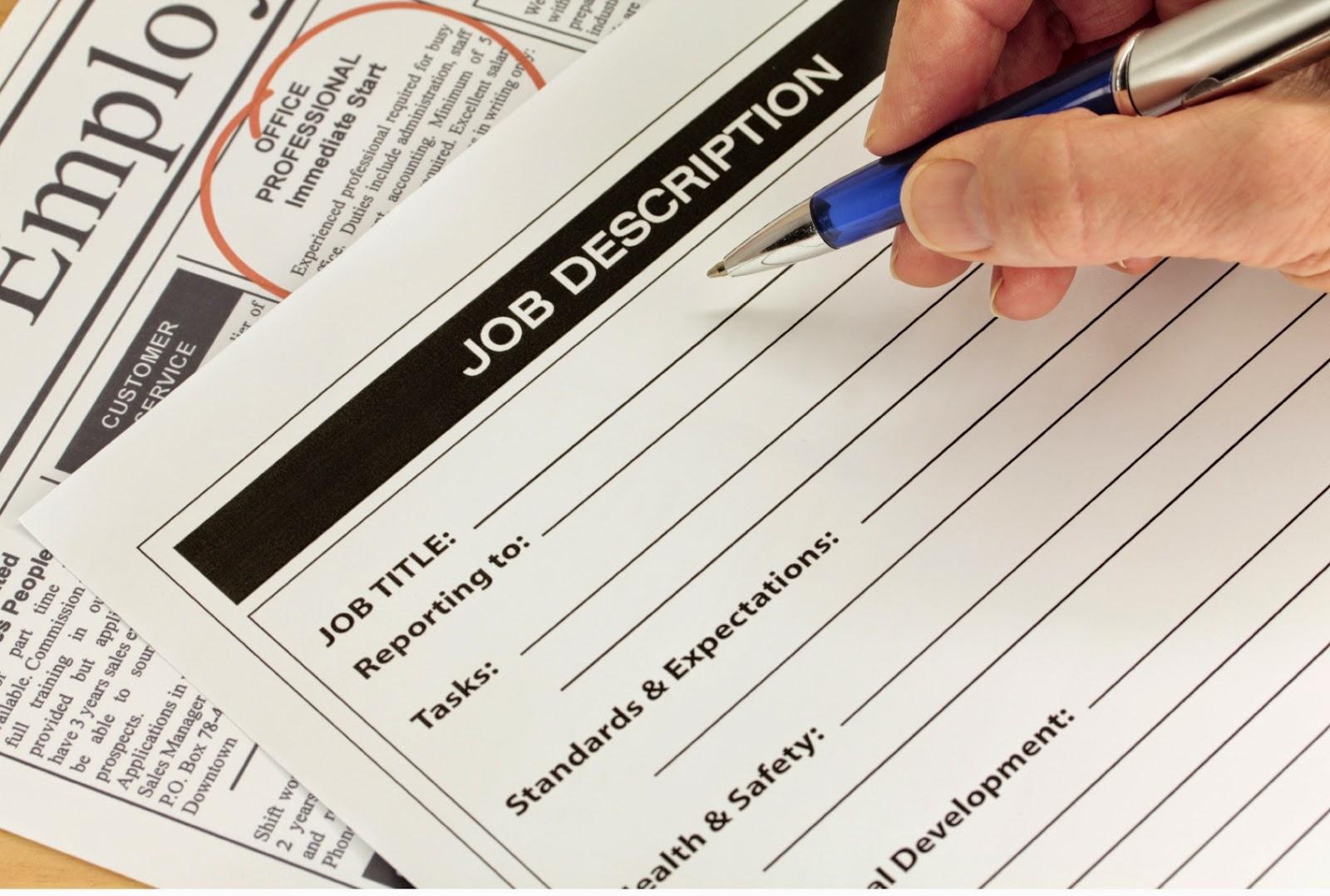 How To Develop  Position Or Job Description