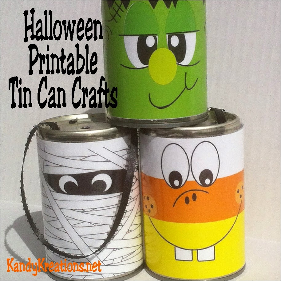 looking for easy halloween decorations how about these free printables halloween monsters using tin cans - Halloween Decoration Crafts