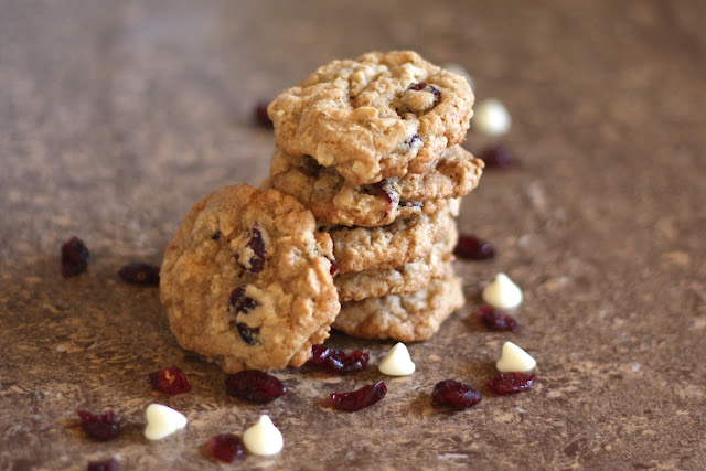 Cranberry Chocolate Chip Oatmeal Cookies recipe by Barefeet In The Kitchen