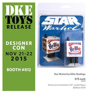 "Designer Con 2015 Exclusive Star Warhol ""Brillo Droid"" Bootleg Star Wars Resin Figure by Killer Bootlegs"