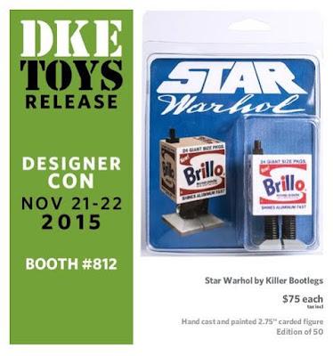 "Designer Con 2015 Exclusive Star Warhol ""Brillo Droid"" Bootleg Star Wars Resin Figure by Killer Bootlegs"
