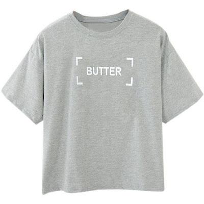 Butter Gray T-Shirt from Choies