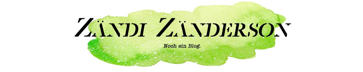 Zändi Zänderson. Noch ein Blog.