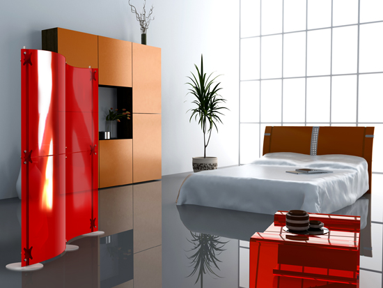 Home Decorating Ideas Using Colorful Room Dividers
