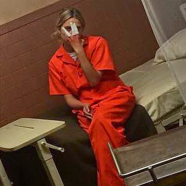 Ashley Benson PLL BTS Jail