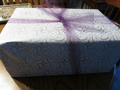 Wrapped wedding gift- Vickie's Kitchen and Garden