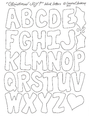 Christmas Block Letters Template
