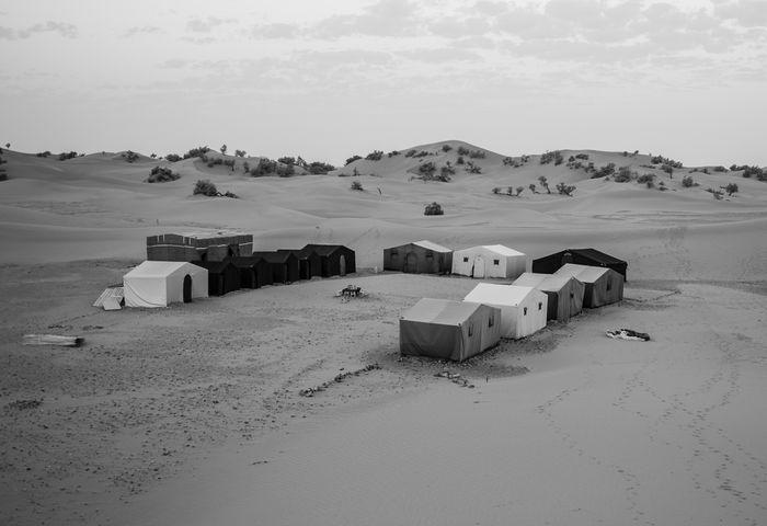Sahara Nachtlager Camp Ausflug
