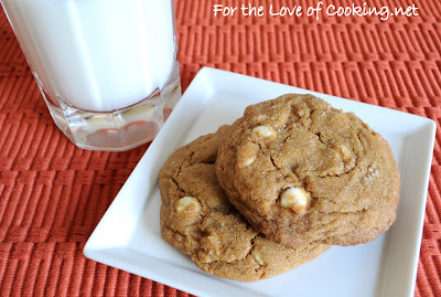Soft Gingersnap Cookies with White Chocolate Chips