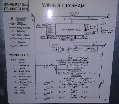 Toshiba GR-M64RDA схема