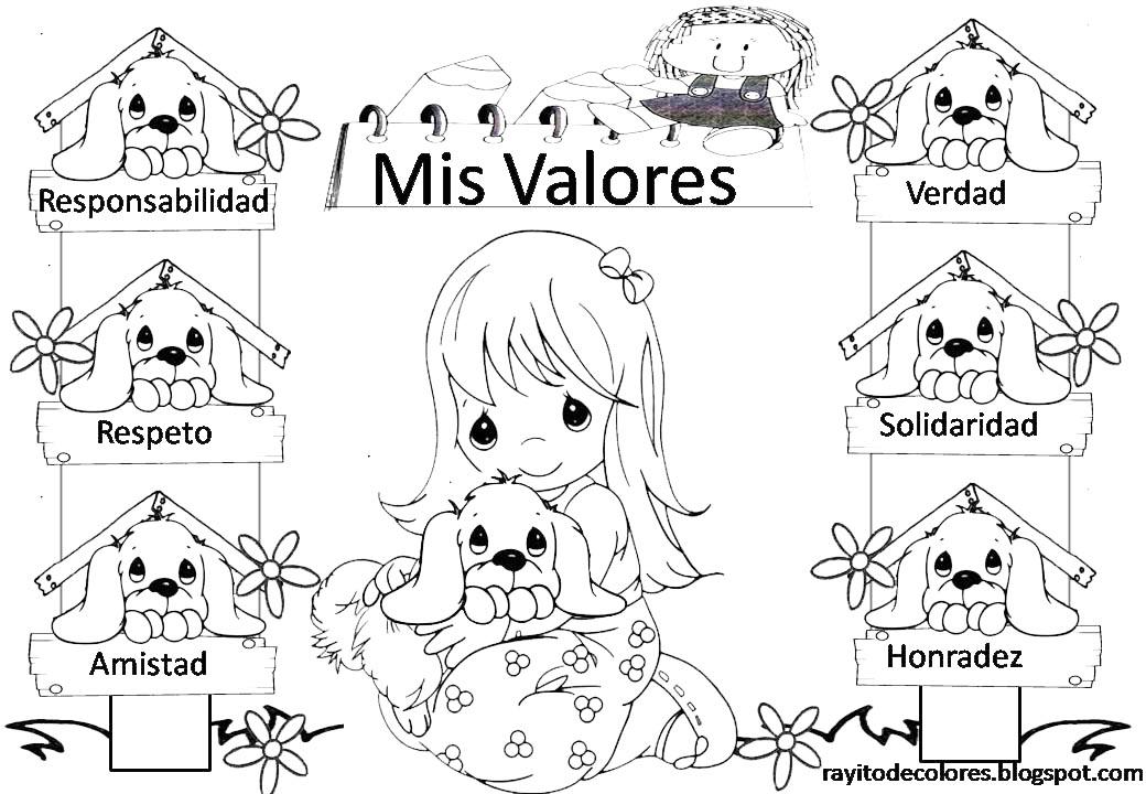 Rayito de Colores: Carteles de Valores