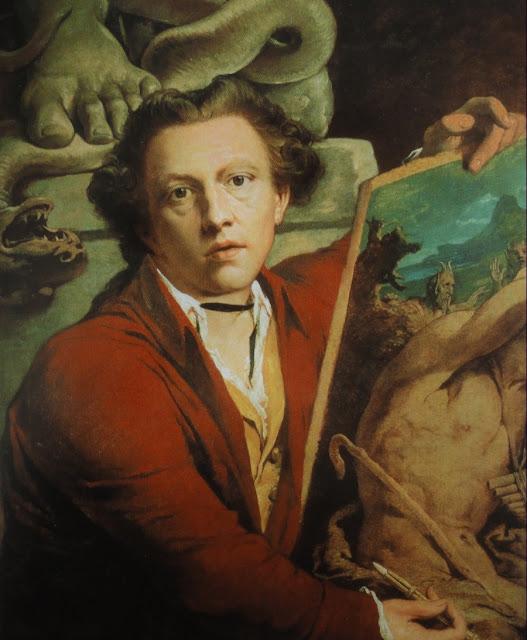self portrait,James Barry,romanticism painting