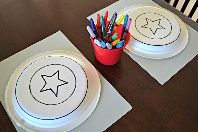 DIY Captain America Shield craft using paper plates #MarvelAvengersWMT
