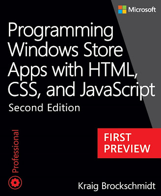 First preview: Programming Windows Store Apps with HTML, CSS, and JavaScript, Second Edition