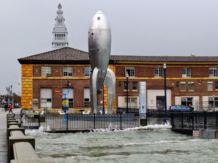 Flooding on San Francisco's Embarcadero during the 2012 King Tide. (Credit: Sergio Ruiz/Flickr) Click to Enlarge.