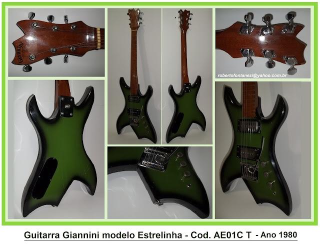 Instrumentos vintage brasileiros. Giannini+estrelinha+AE01C+T