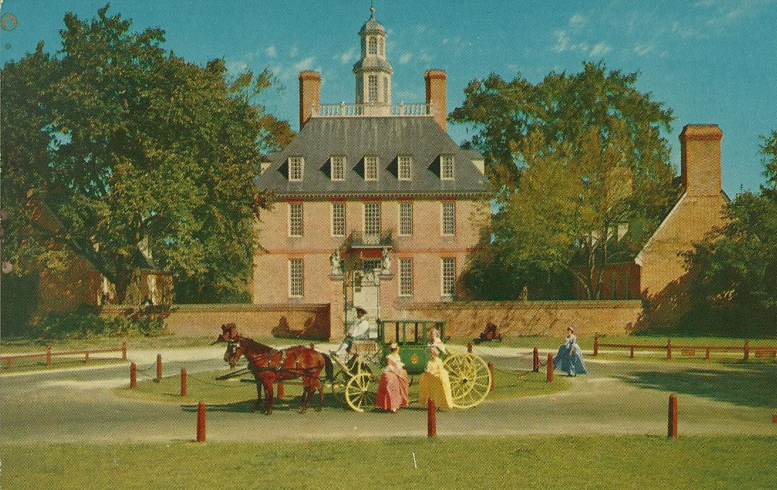 Vintage Travel Postcards Williamsburg Virginia