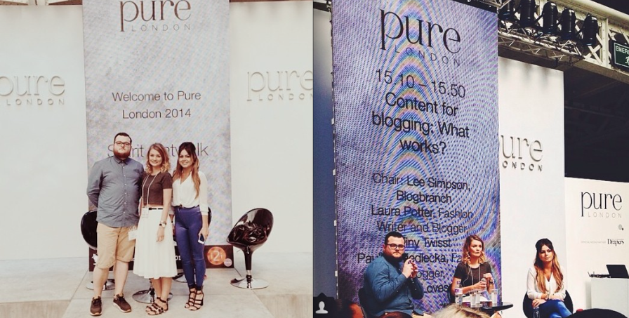 SPEAKING AT THE PURE LONDON FASHION SHOW