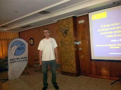"""Conferencia """"El Ánsar común y otras aves acuáticas invernantes en Doñana."""" por Andy Green. Organizado por el Grupo Local SEO.Sevilla de SEO/BirdLife en la Casa de la Ciencia de Sevilla"""