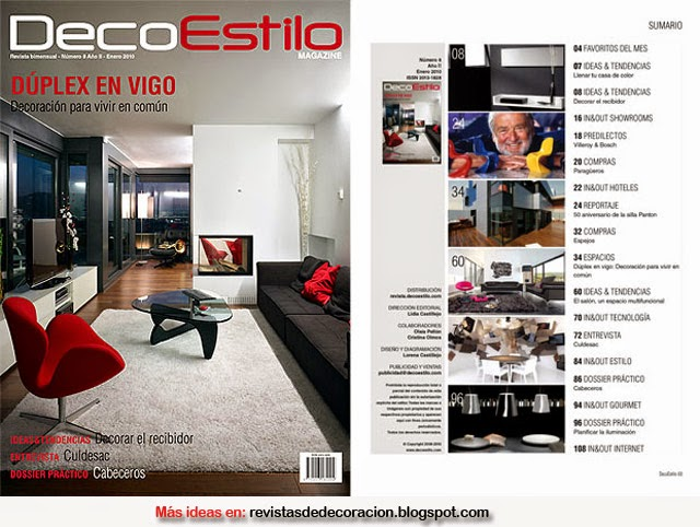 Revista decoraci n decoestilo revistas de decoracion for Revistas de diseno de interiores