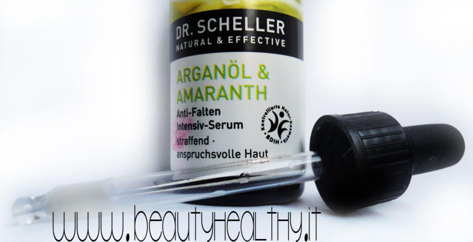 dr. scheller siero antirughe argan amaranto