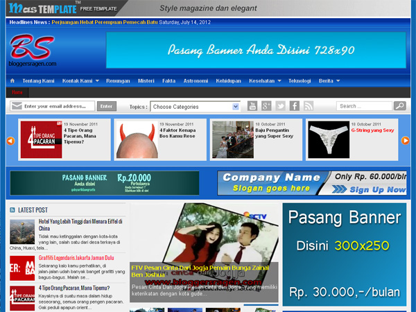 Template Magazine Blogspot
