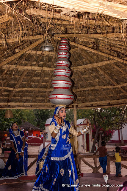 Bhavai Dance Balancing Earthern Pot Dance