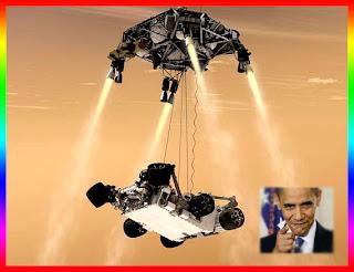 Obama praises NASA for Mars landing