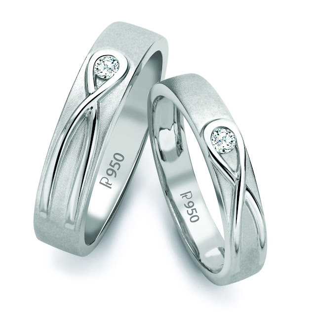 Infinity Knot Platinum Love Bands in India SJ PTO 115 by Suranas Jewelove