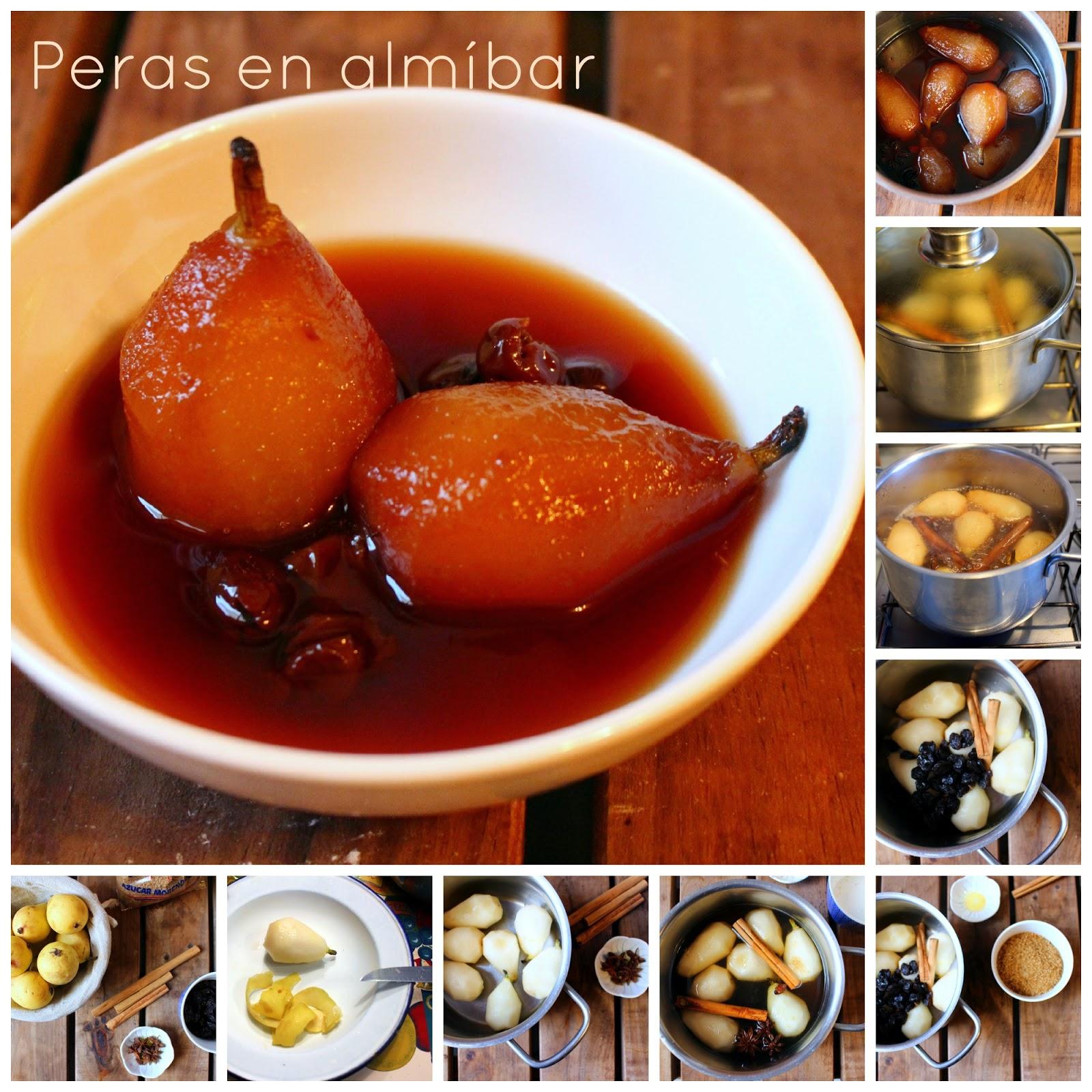 El fest n de marga peras en alm bar receta vegana - Como se hace el almibar ...