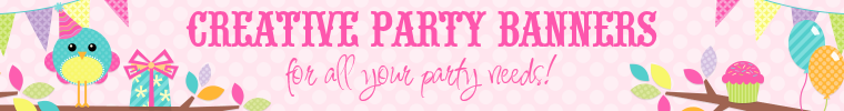 Creative Party Banners as seen on Etsy